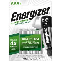 Energizer Energizer Piles rechargeables HR03 Power Plus AAA 1,2V les 4 piles