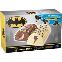 Bûchettes Batman vanille et chocolat
