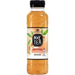 May Tea Boisson thé noir parfum pêche blanche la bouteille de 33 cl