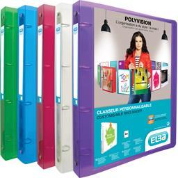 Classeur Polyvision A4 100 feuilles, coloris assorti...