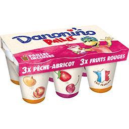 Danone Danone Danonino - Yaourt à boire Paille aux fruits les 6 pots de 100 g