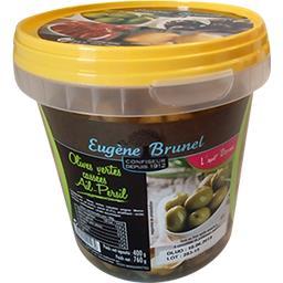 Olives vertes cassées ail persil