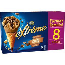 Nestlé Extrême L'Original - Cônes café sauce au café & pépites