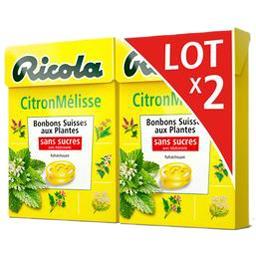 Bonbons suisses aux plantes citron mélisse sans sucr...