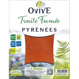 Ovive Ovive Truite fumée Pyrénées le paquet de 4 tranches - 120 g