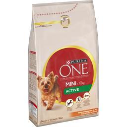 Purina One Purina One Croquettes Active riches en poulet avec riz pour chien mini le sac de 1,5 kg