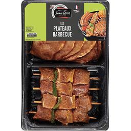 Plateau mini brochettes et paves de porc marines