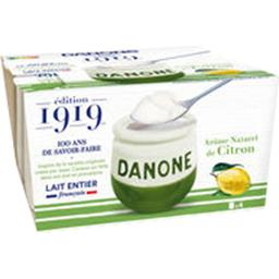 Danone Danone 1919 - Yaourt arôme naturel de citron les 4 pots de 125 g