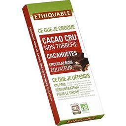 Chocolat noir Equateur cacahuètes cacao cru 70% BIO