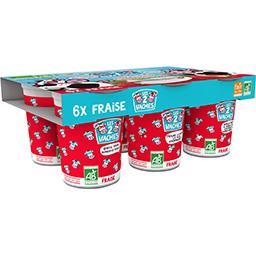 Les 2 vaches Les 2 Vaches Yaourt Les P'tits Glouglou fraise BIO les 6 pots de 100g - 600g