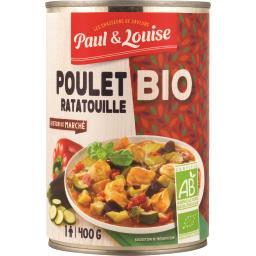 Paul & Louise Paul & louise Poulet ratatouille BIO la boite de 400 g