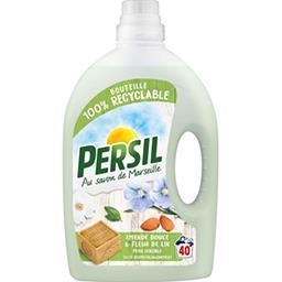 Persil Persil Lessive liquide savon de Marseille amande douce fleur de lin le bidon de 2 l