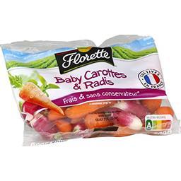Florette Baby carottes & radis prêts à croquer