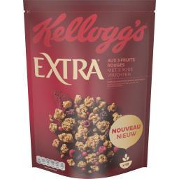 Kellogg's Kellogg's Extra - Céréales pépites fruits rouges le sachet de 450 g