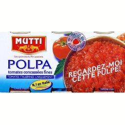 Tomates Polpa concassées fines