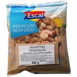Escal Crevettes tropicales décortiquées cuites le sachet de 400 g