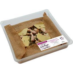 Galette champignons & lardons rissolés