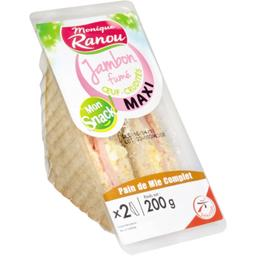 Mon Snack ! - Sandwich Maxi jambon fumé œuf crudités