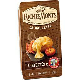 Riches Monts Riches Monts La Raclette de Caractère la barquette de 16 tranches - 420 g