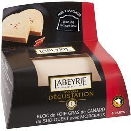 Labeyrie Bloc foie gras canard igp sud-ouest avec morceaux