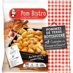 Pommes de terre rôtissoire cuisinées à la graisse de canard