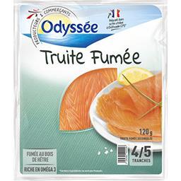 Odyssée Truite fumée le paquet de 4-5 tranches - 120 g
