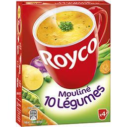 Royco Royco Les Minutes Soup - Mouliné 10 légumes la boite de 4 sachets - 64,4 g