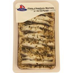 Filets d'anchois marinés à l'ail & persil
