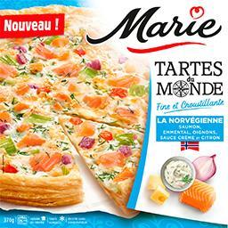 Marie Marie Tartes du Monde - Tarte La Norvégienne saumon emmental la boite de 370 g