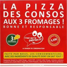 La Pizza des Consos aux 3 fromages