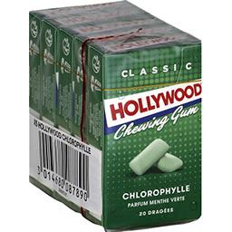 Hollywood Hollywood Chewing-gum chlorophylle les 5 paquets de 28 g