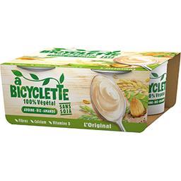 A Bicyclette A Bicyclette Spécialité avoine riz amande L'Original les 4 pots de 100 g