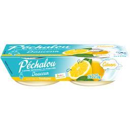 Péchalou Spécialité laitière Douceur citron les 2 pots de 125 g