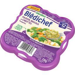 Blédichef - Polenta, brocolis et carottes fondantes, dès 12 mois