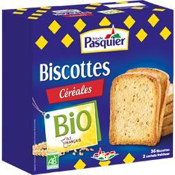 Biscotte bio céréales PASQUIER 300g