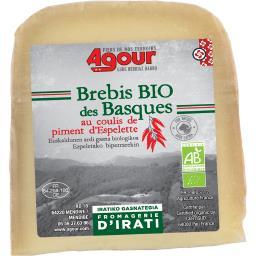 Fromage brebis BIO des basques coulis de piment d'Espelette
