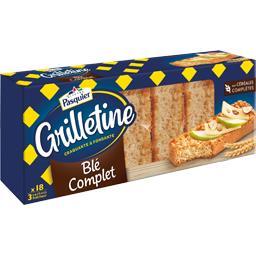 Pasquier Brioche Pasquier Les Grilletines - Tartines grillées blé complet le paquet de 242 g