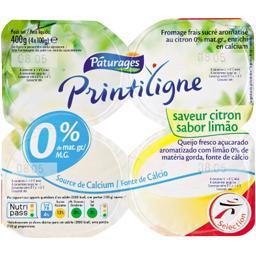Printiligne - Fromage blanc saveur citron 0% MG