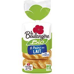 La Boulangère La Boulangère Pains au lait BIO le paquet de 8 - 280 g