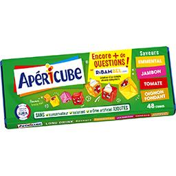 Apéricube Apéricube Spécialité fromagère saveurs emmental/jambon/tomate/oignon la boite de 48 cubes - 250 g