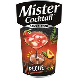Cocktail sans alcool à la pêche
