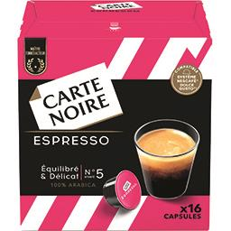 Carte Noire Carte Noire Capsules de café Espresso la boite de 16 capsules - 128 g