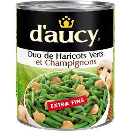 Duo de haricots verts et champignons