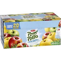 Materne Pom'potes Pom'Potes - Pomme nature sans sucres ajoutés les 20 gourdes de 90 g