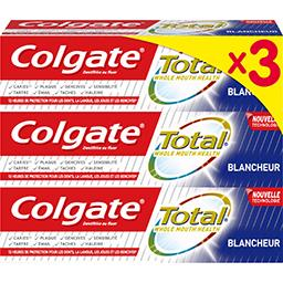 Colgate Colgate Total - Dentifrice blancheur les 3 tubes de 75 ml
