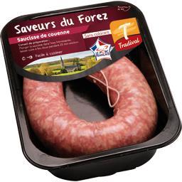 Tradival Saucisse de couenne la barquette de 350 g