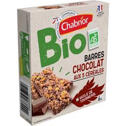 Barres chocolat aux 5 céréales BIO