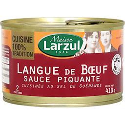 Maison Larzul Larzul Langue de bœuf sauce piquante cuisinée au sel de Guérande la boite de 410 g