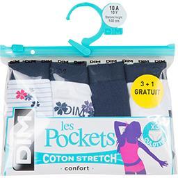 Les Pockets - Culottes taille 10 ans bleu/blanc