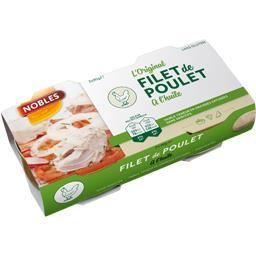 Nobles Filet de poulet L'Original à l'huile les 2 boites de 58 g net égoutté